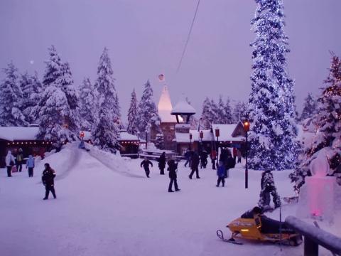 Гуляния на Новый год, во время отдыха в Финляндии
