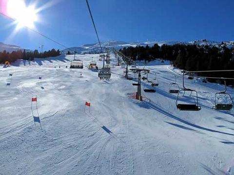 Отлично ухоженные спуски горнолыжного курорта Бормио