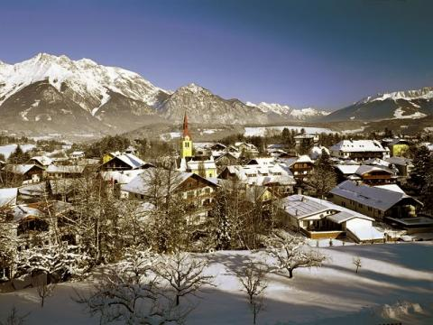 Вид на курорт Иглс, который находится в Австрии