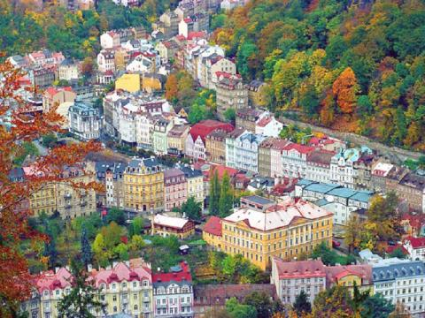 Вид на курорт Карловы Вары, Чехия