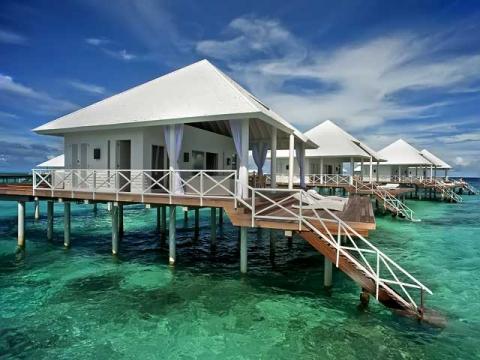 """Лучший на Мальдивах """"все ключено""""отель Diamonds Athuruga Beach & Water Villas"""