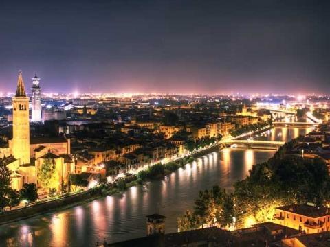 Верона, один из красивейших итальянских городов на севере страны.
