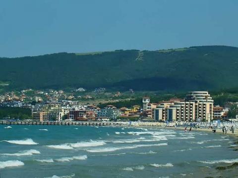Панорамный вид на болгарский курорт Солнечный Берег