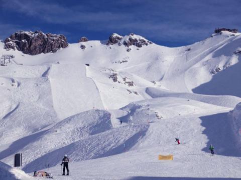 Трассы одного из лучших горнолыжных курортов германии Оберстдорф