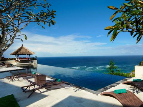 Вид их замечательно отеля на острове Бали