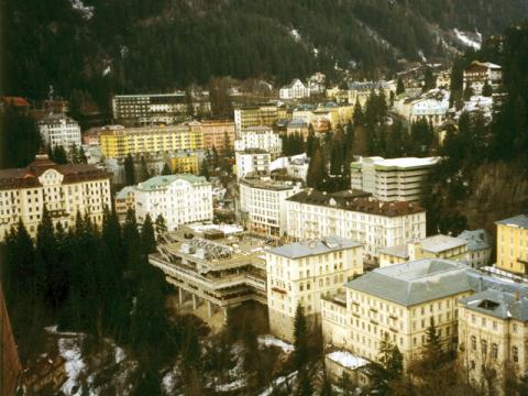 Вид на Австрийский курорт Бад Гастайн